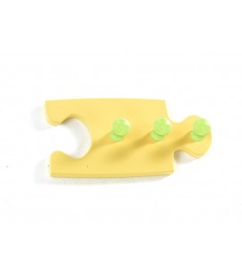 PERCHERO DE PARED MADERA PUZZLE AMARILLO
