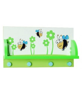 PERCHERO DE PARED MADERA ABEJAS 1