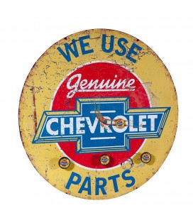 PERCHA DE PARED METAL CHEVROLET