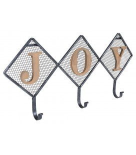 PERCHERO DE PARED METAL Y MADERA JOY